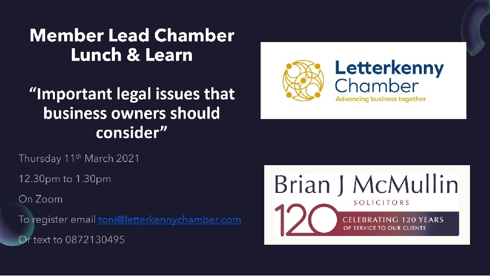 Chamber Lunch and Learn with Brian J McMullin