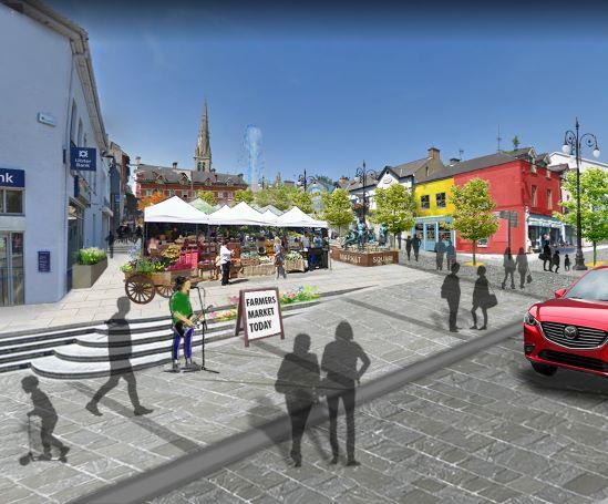 Letterkenny Market Square Winning Design Concept Image